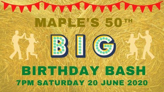 MAPLE'S BIG BIRTHDAY BASH!