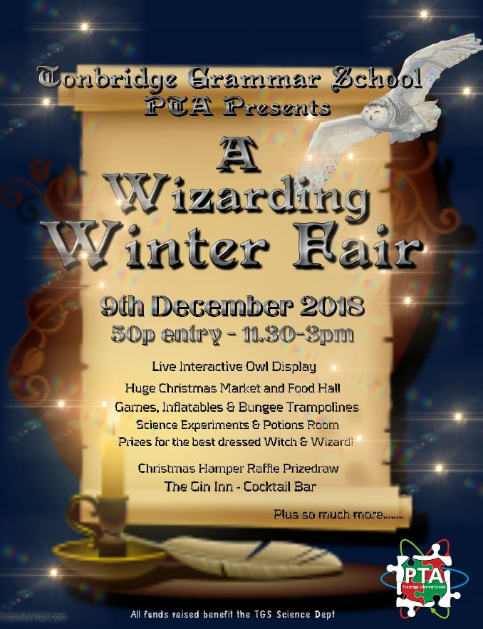 TGS Wizarding Winter Fair - 9th December 2018